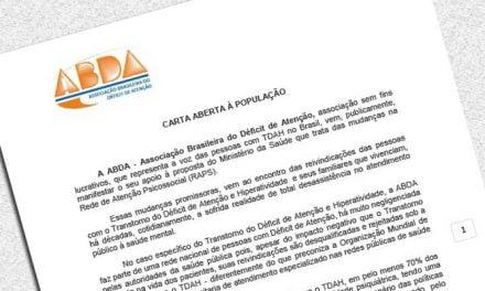 ABDA apoia a nova política de saúde mental do ministério da saúde