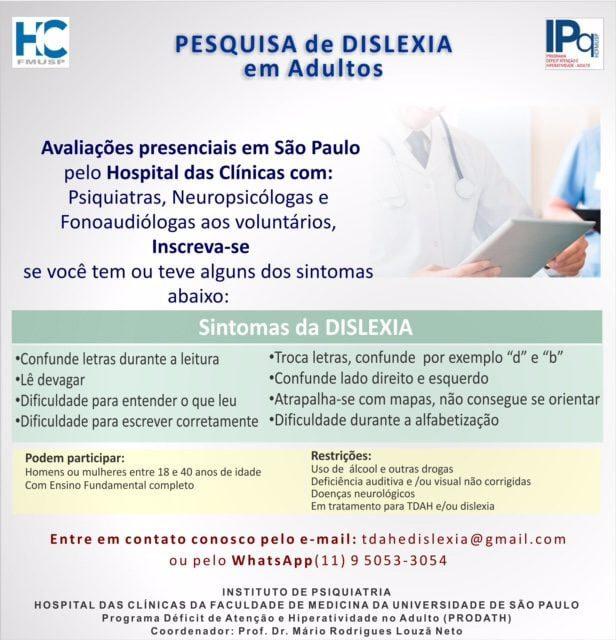 Pesquisa De Dislexia Em Adultos Associacao Brasileira Do Deficit De Atencao